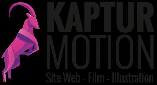 Logo Kapturmotion Horizontal Couleur + noir